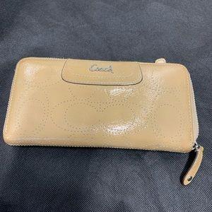 Coach zip around accordion wallet